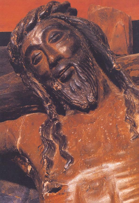 Christ en croix de la chapelle du Château de Javier (Espagne)
